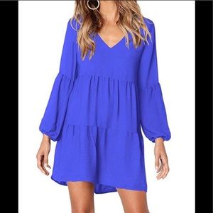 Women's Casual Ruffle Loose Dress